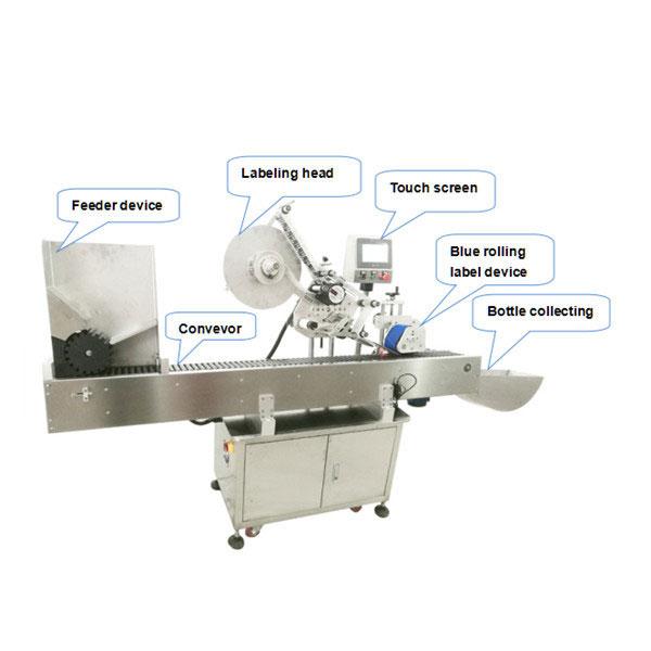 เครื่องติดฉลากขวดอัตโนมัติเต็มรูปแบบพร้อมใบรับรอง CE