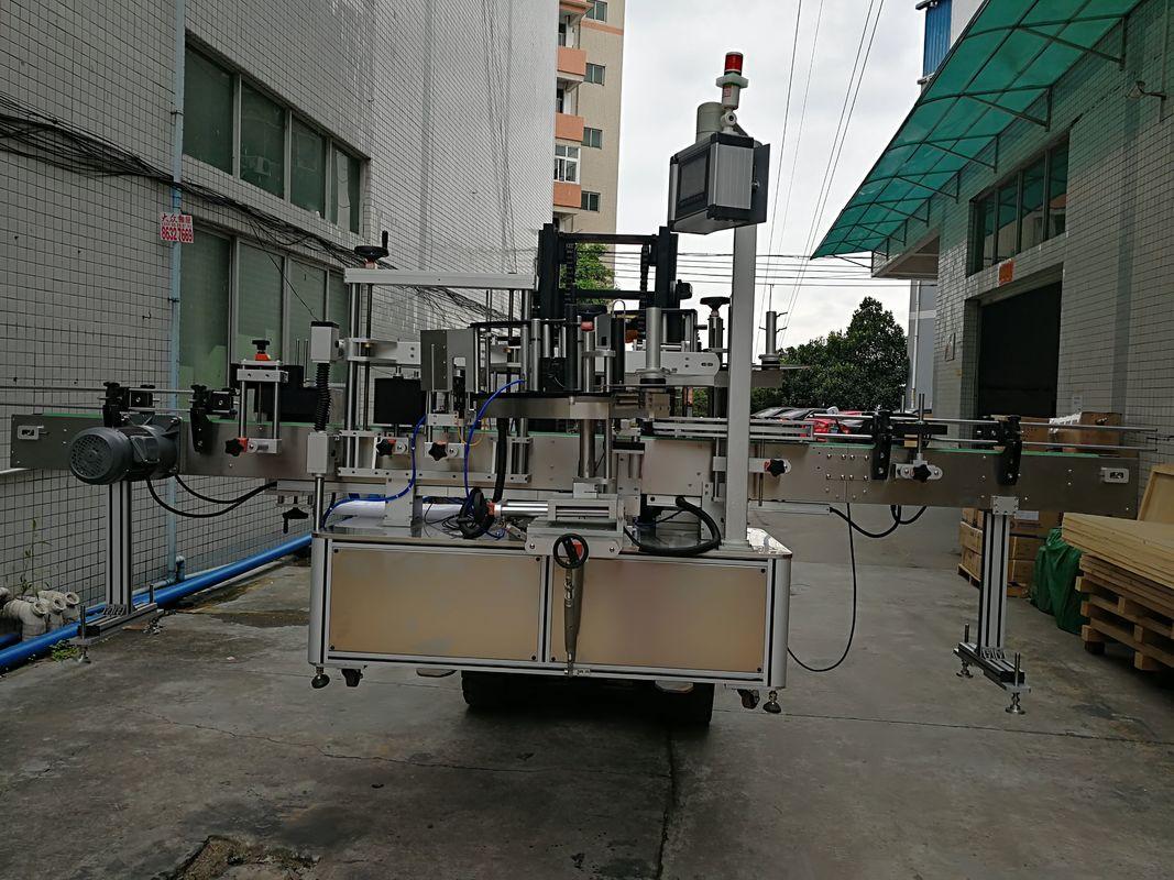 เครื่องติดฉลากสติกเกอร์สองด้านอัตโนมัติเครื่องติดฉลากสำหรับขวดพลาสติก