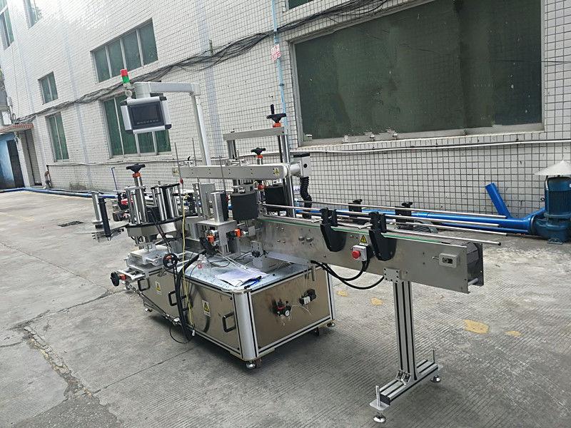 สติกเกอร์ติดด้วยตนเองเครื่องติดฉลากขวดสองด้านอัตโนมัติเต็มรูปแบบ