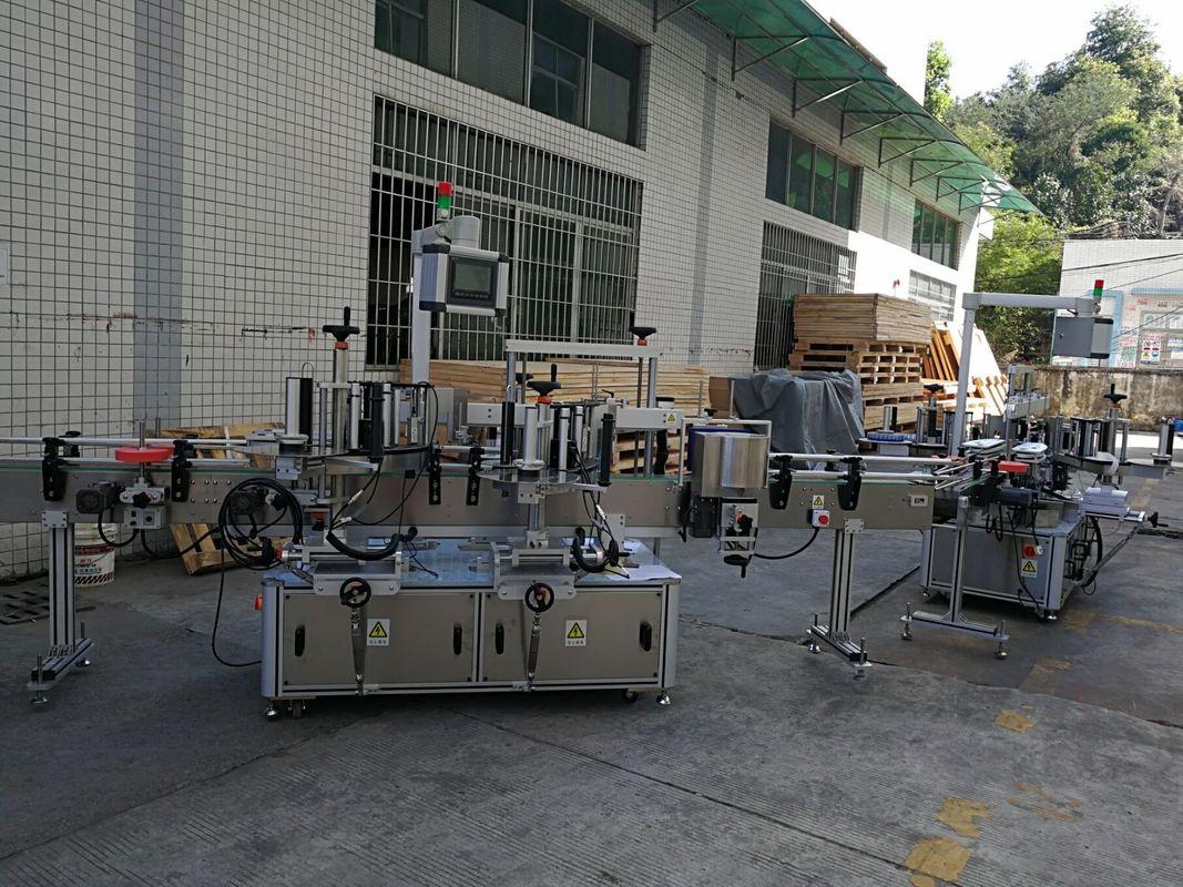 เครื่องติดฉลากสติกเกอร์ขวดแบน / สแควร์อัตโนมัติเต็มความจุ 5,000-8000B / H